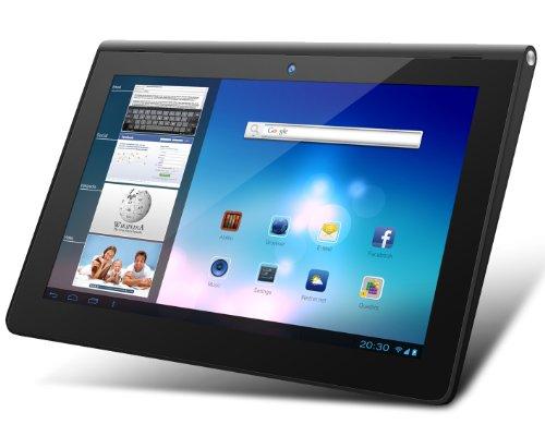 Odys Prime plus 3 G 23,9 cm (9,4 Zoll) Tablet-PC (Rockchip Quad Core 1,6GHz, 2GB RAM, 16GB HDD, UMTS (3 G), Android 4.2.x, HD IPS Display (1280 x 800), HDMI, OTA, BT 4.0) schwarz/Alu