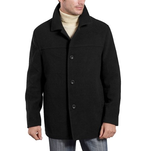 The single breasted overcoat with a notched lapel, is a more traditional style, whereas, the double breasted peak lapel overcoat is considered a little more formal and wears warmer due to the double layer covering the chest and torso.