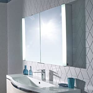 roper rhodes slimline perception double mirror bathroom wall cabinet