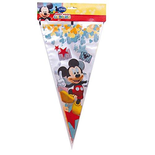 Mickey Mouse - Pack de 10 bolsas cono con estrellas Maxi Clubhouse, 30X40 cm (Verbetena 014000334)