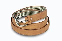 Women light brown casual wear belt