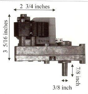 Quadrafire Pellet 1000 Auger Motor - PP7100 MFR