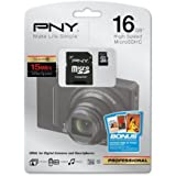 PNY P-SDU16G10-EFS2 16 GB microSDHC Flash Memory Card