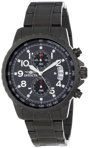 Invicta Men's 13787 Specialty Chronograph Black Dial Black Ion-Plated Stainless Steel Watch