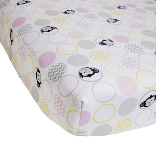 Bedtime Originals Crib Fitted Sheet, Pinkie