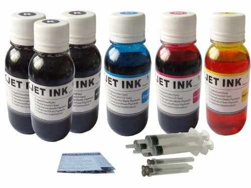600 ml HP Printer 920 XL 564 XL Cartridge Ink Refill Kit Color- Black with 4 refill syringe