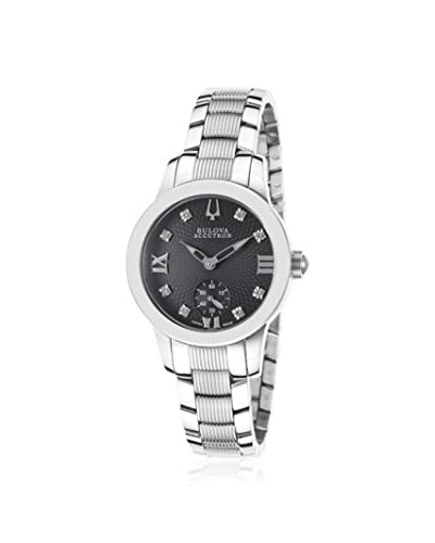 Bulova Women's ACCUTRON-63P000 Masella Silver Tone/Black Stainless Steel Watch