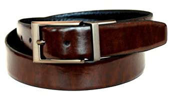 Dockers Men's 32mm Feather Edge Reversible Belt,Brown/Black,32