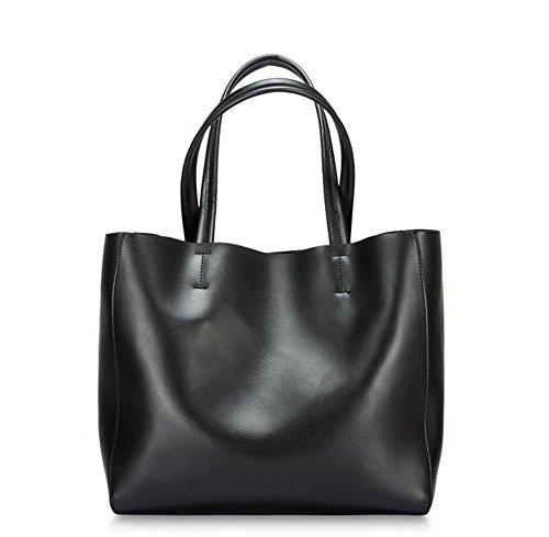 Nuova perla pelle borsa a tracolla borsa Messenger , black