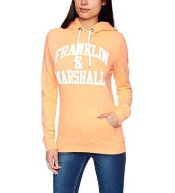 Franklin & Marshall FLWC525S13 Women's Sweatshirt Canteloupe Small