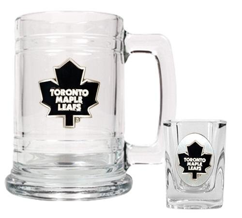 Nhl Toronto Maple Leafs Boilermaker Set - Primary Logo back-610506