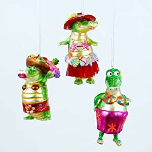 Tropical Alligator Best Friends Christmas