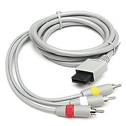 (5074-u) 1.8M AUDIO VIDEO AV TV COMPOSITE RCA CABLE FOR NINTENDO WII (USA)