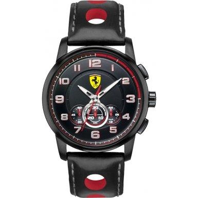 Scuderia Ferrari 0830059 - Reloj para hombres, correa de goma color negro