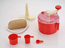 Delight Dough Maker with Free Measuring Cups (Colours May Vary) - Atta Maker Besan Lassi Maker