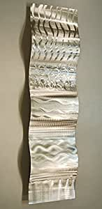 Contemporary silver wall sculpture with for Dining room wall art amazon