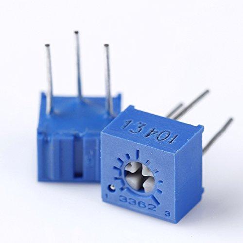 10pcs 100K ohm 3362P-104 3362 P atténuateur potentiomètre de réglage