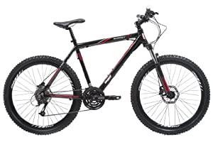 DBR by Raleigh Mens Alloy Mountain Bike - Black, 26-inch Wheel, 16 Inch Frame