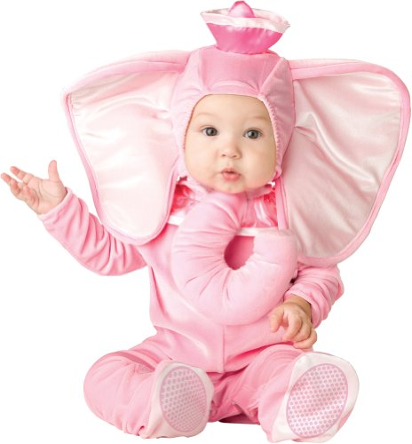 Incharacter Unisex-Baby Infant Pink Elephant Costume, Pink, Large front-874019