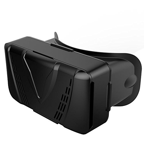 3D VR Headset Glasses Pinhen VR CASE Virtual Reality Headset 3D Video Movie Game Glasses Bluetooth Remote Control for iPhone6 plus Samsung Galaxy S6 Edge+ Android (ESEE Black)