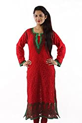 ADA Exclusive Hand Embroidered Ethnic Wear Casual Georgette Long Kurti A61952