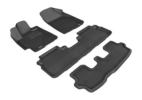 3D MAXpider Front Row Custom Fit Floor Mat for Select Porsche 911 Models Classic Carpet Black
