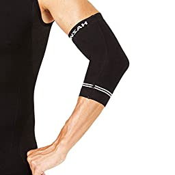 Zensah Compression Tennis Elbow Sleeve for Elbow Tendonitis, Tennis Elbow, Golfer\'s Elbow - Elbow Support, Elbow Brace,Large,Black