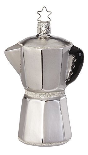 Espresso Coffee Pot, #1-257-15, from the 2016 Delicious Forever! Collection by Inge-Glas Manufaktur; Gift Box Included