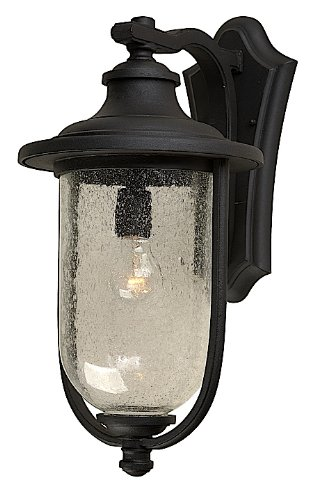 Artcraft Lighting AC8070BK Monterey Bay Outdoor Wall Sconce Light, Black