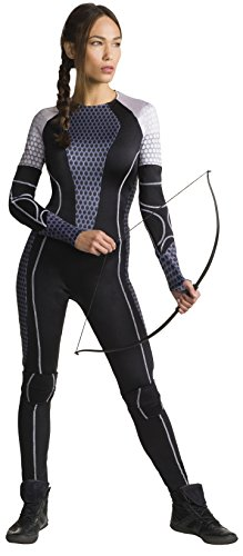 Katniss Everdeen Women's Jumpsuit Mockingjay Catching Fire Hunger Games Costume (M) (The Hunger Games: Catching Fire Katniss Costume For Women)