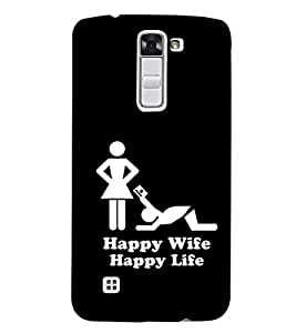 EPICCASE Happy wife Mobile Back Case Cover For LG K7 (Designer Case)