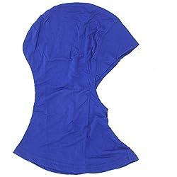 Imported Muslim Full Cover Hijab Cap Islamic Underscarf Graceful Neck Head Hat Blue
