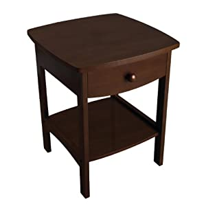 Winsome Wood Night Stand with Drawer, Walnut