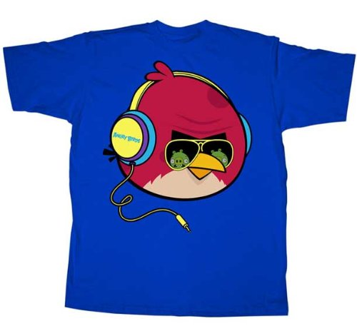 Angry Birds T-Shirt ~ Tough Guy ~ 100% Cotton ~ Mens Shirt