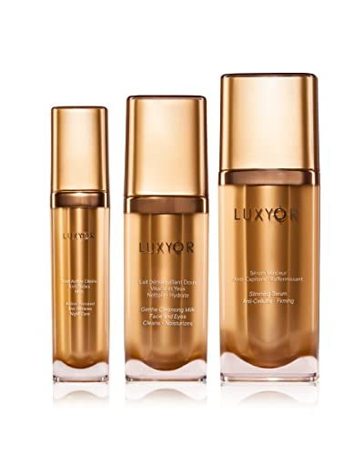 Luxyor Set, 3 tlg. Action Focused Anti-Wrinkle Night Care, Gentle Cleansing Milk Face and Eye Cleans...
