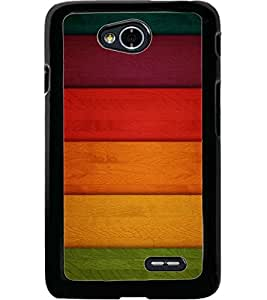 ColourCraft Colourful Bars Design Back Case Cover for LG L70