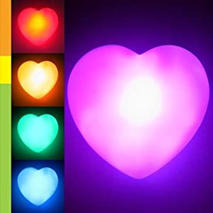 Amazon Color Changing LED Heart Romantic Love Night