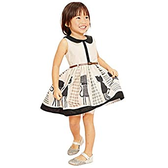 Chinatera Baby Girl Kids Children Summer Dress Casual Princess One-piece Cats Cotton