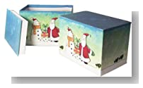 Value Set of 2 - 24 Handmade Christmas Greeting Card Assortment With Decorative Reusable Box, 48 Total Cards