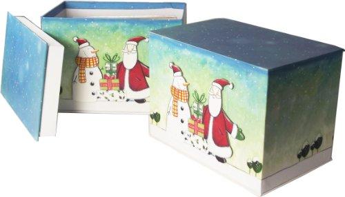 Value Set of 2 - 24 Handmade Christmas Greeting