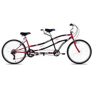 Kent Northwoods Dual Drive Tandem Bike (26-Inch Wheels), Red/Black