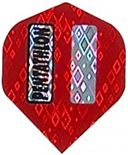 3 Sets of 3 Dart Flights - 2340 - Pentathlon Red 2D Glitter Standard Double Thick Flights