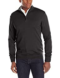 Oxford NY Men's Quarter Zip Mock-Neck…