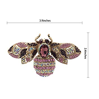 Vintage Style Rhinestone Crystal Bug Bee Brooch Pin Animal Broach Pins Jewelry 6608