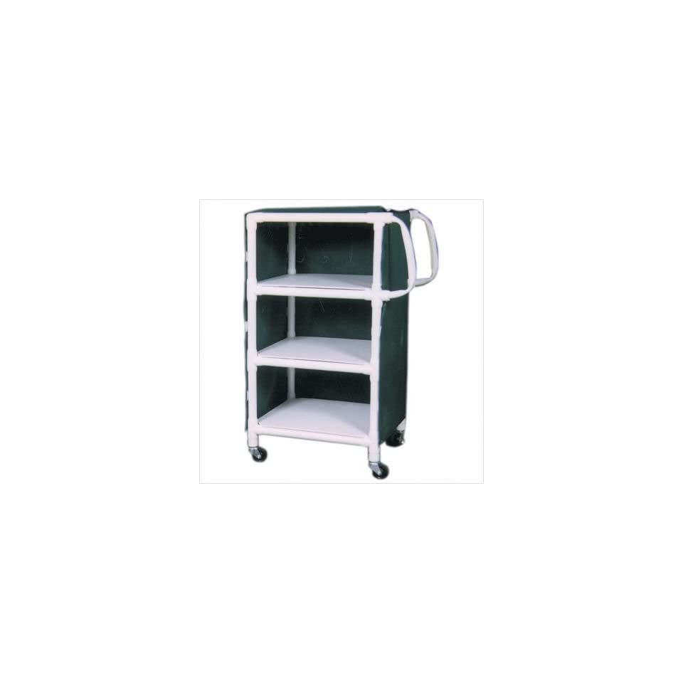 MJM International 325/350 24 KIT Linen Cart with Cover and Optional Accessory Bags