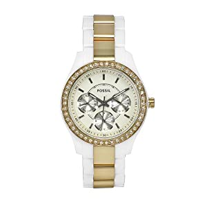 Fossil Women's ES2805 Stella Acrylic Bracelet With Dial Watch