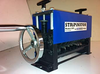 STRiPiNATOR ® Model MWS-808 Wire Stripping Machine Copper Stripper Recycler by BLUEROCK ® Tools