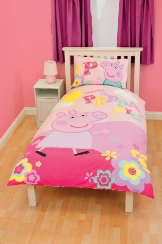 Peppa Pig Adorable Panel Single Bed Duvet Quilt Cover Set