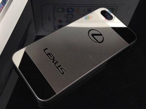 iPhone5/5s完全対応 アルミ黒枠ハードケース シルバー x ミラーシルバー 全9種 (レクサス Lexus)