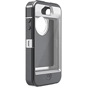 OtterBox Defender Series Hybrid Case/Holster for iPhone 4/4S - 1 Pack - Carrying Case - White/Gunmetal Gray